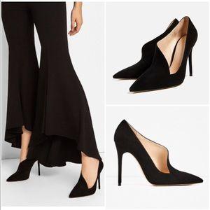 Zara Asymmetric Leather High Heel Shoes